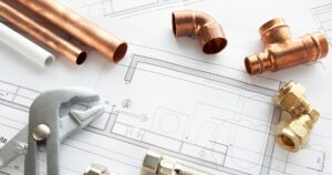 Plumbing plans and parts at design stage