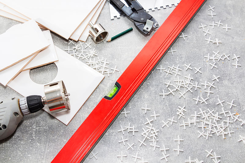 Plumber tools for tiling